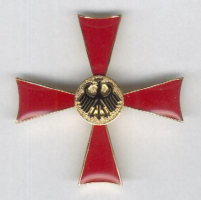 FEDERAL REPUBLIC OF GERMANY.  Order of Merit, Cross of Merit I class for Ladies (BUNDESREPUBLIK DEUTSCHLAND. Verdienstorden, Verdienstkreuz 1. Klasse für Damen), probably by Albrecht Bender & Co of Weissenburg, Bavaria