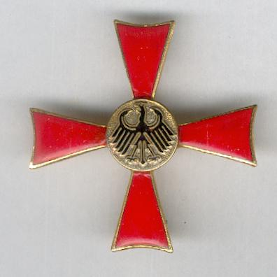 FEDERAL REPUBLIC OF GERMANY.  Order of Merit, Cross of Merit I class for Ladies (BUNDESREPUBLIK DEUTSCHLAND. Verdienstorden, Verdienstkreuz 1. Klasse für Damen), probably by Steinhauer & Lück of Lüdenscheid