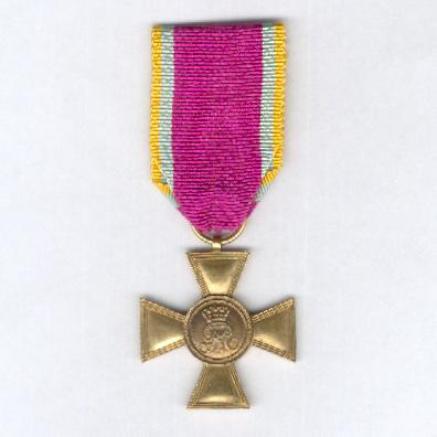MECKLENBURG-SCHWERIN.  Officer's Long Service Cross for 25 Years' Service (Offiziersdienstkreuz für 25 Dienstjahre), 1841-1872 issue