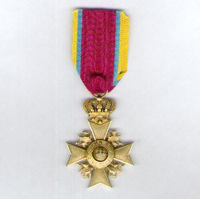 MECKLENBURG-SCHWERIN.  House Order of the Wendish Crown, Golden Cross of Merit (Hausorden der Wendischen Krone, Goldenes Verdienstkreuz), 1864-1918 issue