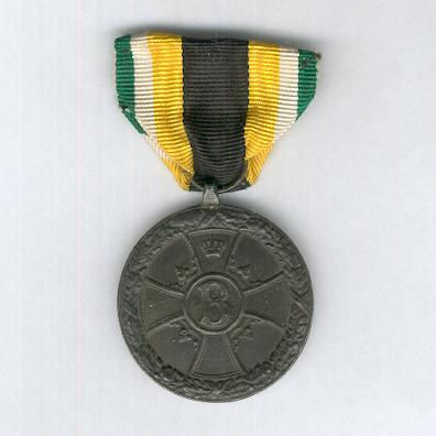 SAXE-MEININGEN.  Honour Medal for Merit in War, 1914-1915, bronze, on non-combatant's ribbon (SACHSEN-MEININGEN.  Ehrenmedaille für Verdienste im Kriege, 1914-1915, Bronze, am Nichtkämpferband)