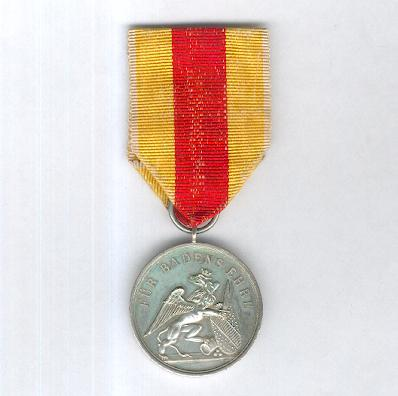 BADEN.  Military Karl-Friedrich Order of Merit, Silver Medal, 7th version (Militär Karl-Friedrich-Verdienstorden, Silberne Medaille, 7. Modell), 1870-1871, privately produced reduction