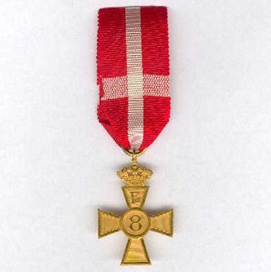 Faithful Service Decoration, 8 Years Cross, Frederik VIII