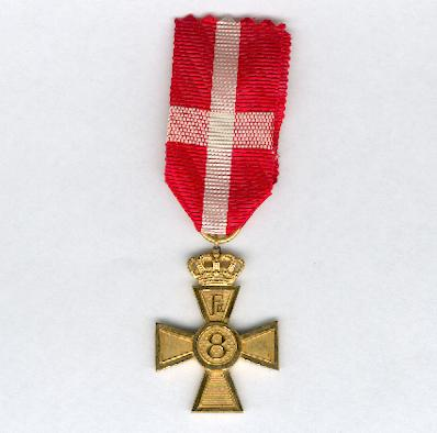 Faithful Service Decoration, 8 Years Cross, Frederik IX issue