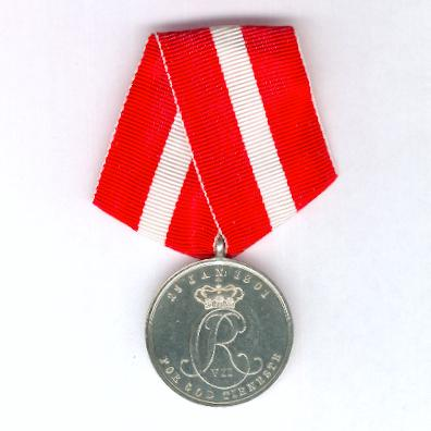 Medal for Good Service in the Navy (Hæderstegnet for God Tjeneste ved Søetaten), 3rd version, since 1843