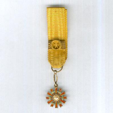 National Order of Merit, grand cross (Orden Nacional al Mérito, gran cruz), miniature