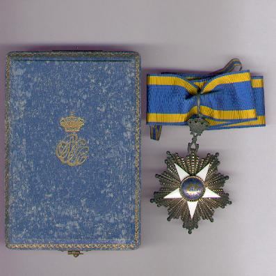 Order of the Nile (Nishan al-Nil), commander, in fitted embossed case of issue by J. Lattes of Cairo and Geneva, pre-1922 issue