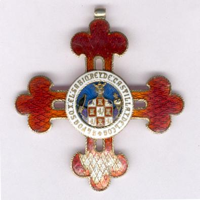 Civil Order of Alfonso X, the Wise, cross (Orden Civil de Alfonso X el  Sabio, cruz)