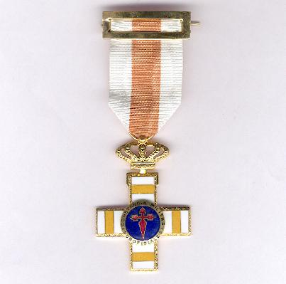 Cross for Military Constancy, Non-Commissioned Officers, Pensioner's Cross (Cruz a la Constancia Militar, Suboficiales, Cruz Pensionada)