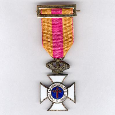 Cross of Bronze for Constancy in Service (Cruz de Bronce a la Constancia en el Servicio)
