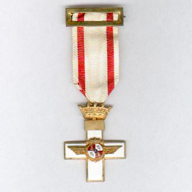 Cross of Aeronautical Merit, Cross with White Distinction (Cruz del Mérito Aeronáutico, Cruz con Distintivo Blanco), 1949-1975 issue