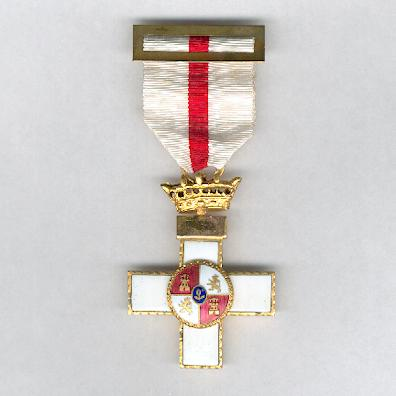 Order of Military Merit, I Class Cross with White Distinction (Orden del M�rito Militar, Cruz del 1� Clase con Distintivo Blanco), 1938-1975 issue
