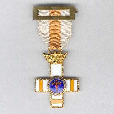 Cross for Military Constancy, Non-Commissioned Officers, Pensioner's Cross (Cruz a la Constancia Militar, Suboficiales, Cruz Pensionada), 1958-1975 issue