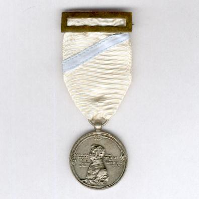 Medal for the Centenary of Puente de Sampayo, silver (Medalla del Centenario de Puente de Sampayo, plata), 1809-1909