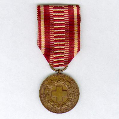 Finnish Red Cross Medal of Merit, bronze (Suomen Punainen Ristin Ansiomitali, pronssia)