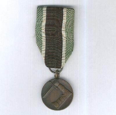 Civil Guard Medal of Merit (Suojeluskunnan ansiomitali), bronze