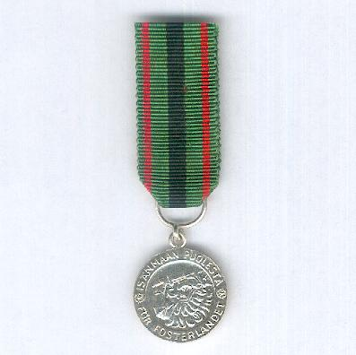 Order of the Cross of Liberty, Medal of Merit of the Cross of Liberty, I class (Vapaudenristin Ritarikunta, Ansiomitali 1. luokka), 1945 onwards, miniature