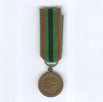 Order of the Cross of Liberty, Medal of Merit of the Cross of Liberty, II class (Vapaudenristin Ritarikunta, Ansiomitali 2. luokka), 1945 onwards, miniature
