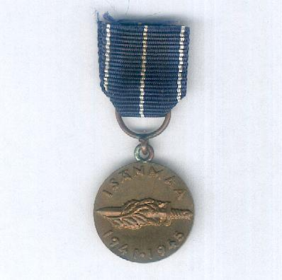 Continuation War Commemorative Medal (Jatkosodan Muistomitali), 1941-1945, miniature
