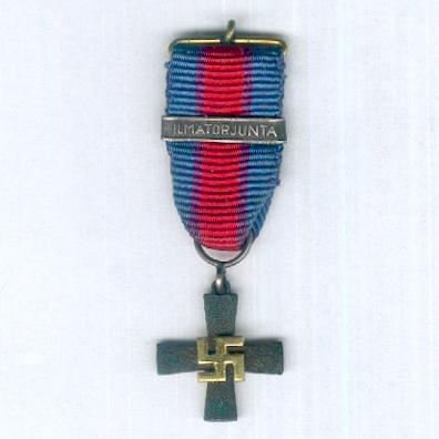 Air Force Cross (Ilmavoimien Risti) with 'Anti-Aircraft' clasp (Ilmatorjunta soljella) 1939-1944, miniature
