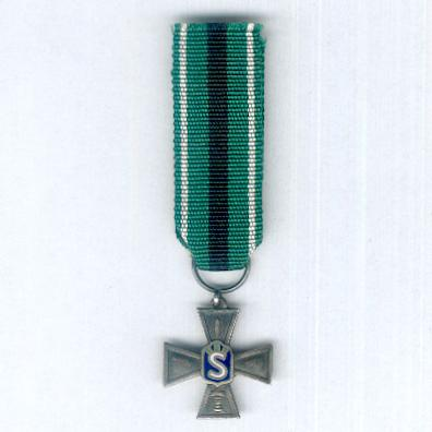 Civil Guard Silver Cross of Merit (Suojeluskunnan hopeinen ansioristi), miniature