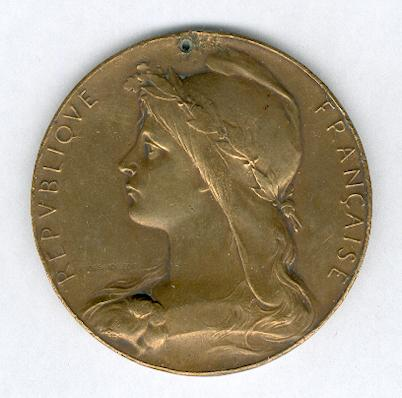ACCOUNTANCY.  Medal of the Accountancy Society of France, bronze, signed 'O. Roty', attributed in 1925 (Médaille de la Société de Comptabilité de France, en bronze, signée 'O.Roty', attribuée en 1925)