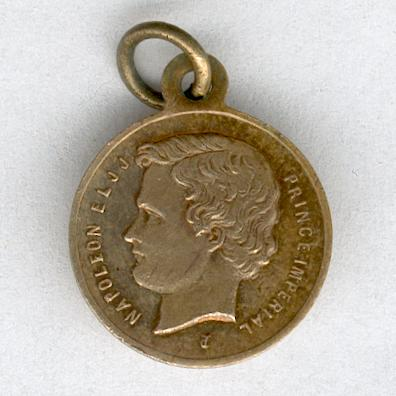 Commemorative Medal for the Admission of the Prince Imperial into the 1st Grenadier Regiment of the Imperial Guard (Médaille Commemorative de l'Admission du Prince Impérial au 1er Régiment des Grenadiers de la Garde Impériale), 1856, miniature