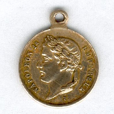 Commemorative Medal for the Tomb of Emperor Napoleon I (Médaille Commemorative du Tombeau de l'Empereur Napoléon Ier), miniature
