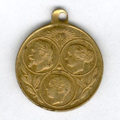 UNIVERSAL EXHIBITION, PARIS, 1867.  Commemorative Bronze Medal for the Universal Exhibition of 1867 (Médaille de Bronze Commemorative de l'Exposition Universelle de 1867), miniature