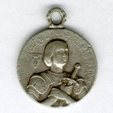 Commemorative Medal for the Beatification of Joan of Arc (Médaille Commémorative de la Béatification de Jeanne d'Arc), 1909, miniature