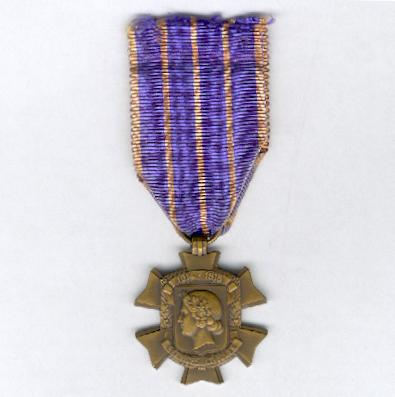 Cross of Civic Service (Croix des Services Civiques), 1914-1918