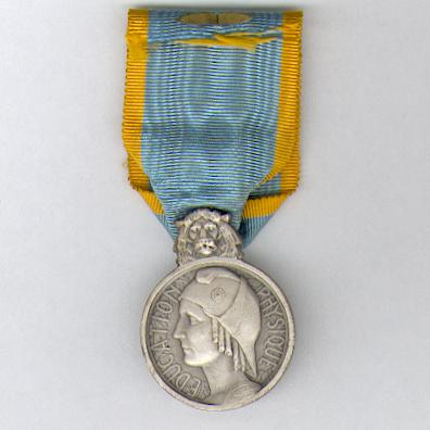 Medal of Honour for Physical Education, silver (Médaille d'Honneur de l'Education Physique, en argent), 1927-1939 issue
