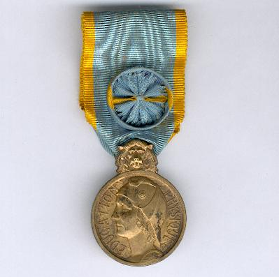 Medal of Honour for Physical Education, officer, silver gilt (Médaille d'Honneur de l'Education Physique, officier, en vermeil), 1927-1939 issue