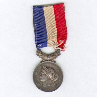Medal of Honour for Acts of Courage and Devotion, silver, attributed in 1882 (Médaille d'Honneur pour Actes de Courage et de Dévouement, en argent, attribuée en 1882)