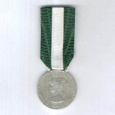 Medal of Honour for Regions, Departments and Communes, silver, attributed in 2003 (Médaille d'Honneur Régionale, Départementale et Communale en argent, attribuée en 2003) by Arthus Bertrand of Paris