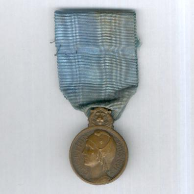 Medal of Honour for Physical Education, bronze (Médaille d'Honneur de l'Education Physique en bronze) 1927-1939 issue