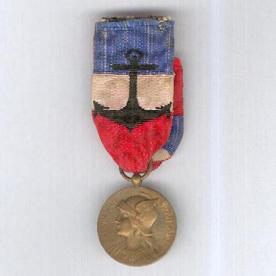 Medal of Honour for non-Military Naval Personnel, attributed in 1926 (Médaille d'Honneur pour le Personnel non Militaire de la Marine, attribuée en 1926)