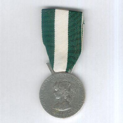Medal of Honour for Regions, Departments and Communes, silver (Médaille d'Honneur Régionale, Départementale et Communale, argent)