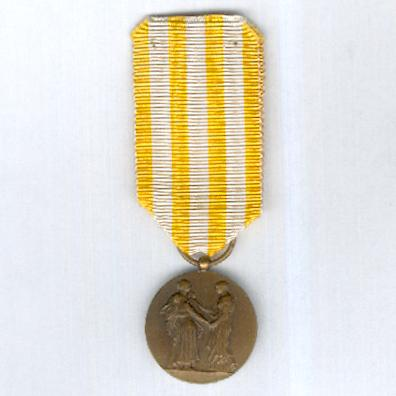 Medal of Honour for Public Assistance, bronze, 1st version (Médaille d'Honneur de l'Assistance Publique, bronze, premier modèle), 1891-1932