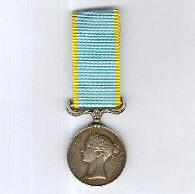 Crimea Medal (Médaille de Crimée) 1854, unattributed as issued
