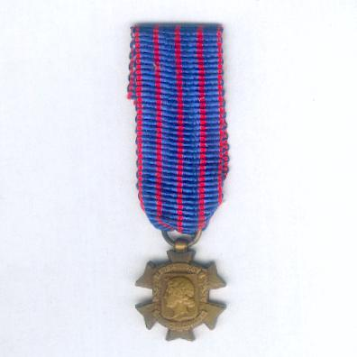 Cross of Civic Service (Croix des Services Civiques), 1914-1918, miniature