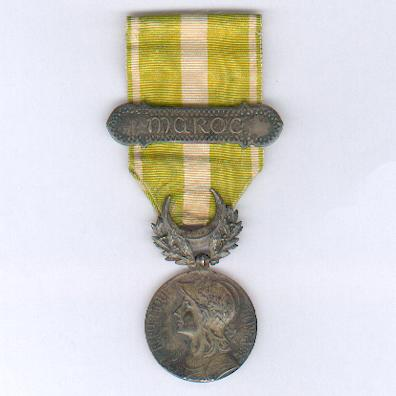 Medal for Morocco (Médaille de Maroc) 1909 with 'MAROC' bar