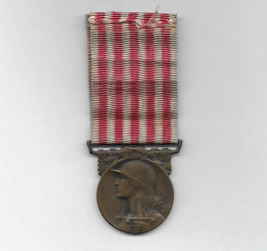 Medal Commemorative of the Great War, 1914-1918, very rare version by Léon Chalin, Paris (Médaille Commémorative de la Grande Guerre 1914-1918, très rare modèle de Léon Chalin, Paris)