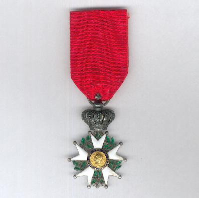 Royal, Imperial and National Order of the Legion of Honour, Presidence, knight (Ordre Royal, Impérial et National de la  Légion d'Honneur, Présidence, chevalier), 1848-1852