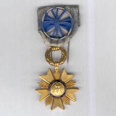 Order of Artisan Merit, officer (Ordre de Mérite Artisanal, officier)