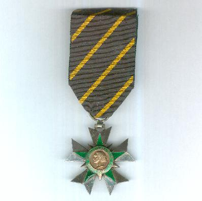Order of Combatant Merit, knight (Ordre du Mérite Combattant, chevalier), awarded 1953 to 1963