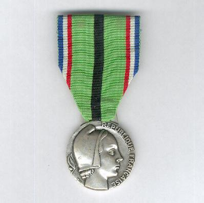 Medal for the Resistant Patriots of the Rhine and Moselle (Médaille du Patriotes Résistant à l'Occupation du Rhin et de la Moselle), 1939-1945