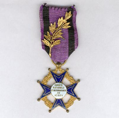 Cross of the National Society for the Encouragement of Merit (Croix de la Société Nationale d'Encouragement au Mérite)