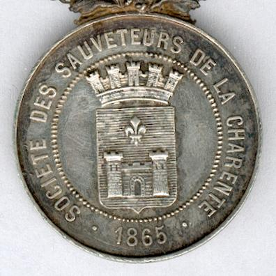 CHARENTE.  Medal of Honour of the Society of the Life Savers of the Charente (Médaille d'Honneur de la Société des Sauveteurs de la Charente)