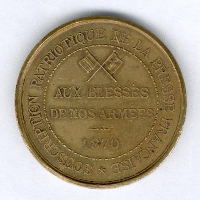 Medal for the Press Ambulances (Médaille des 'Ambulances de la Presse'), 1870-1871, in original case of issue